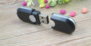 Memoria USB formato oval con tapa