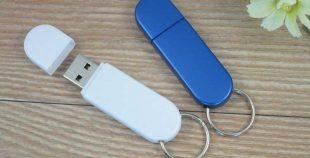 Memoria USB llavero en PVC con tapa