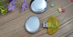 Memoria USB en PVC bicolor circular