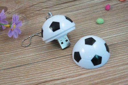 Memoria USB con formato balón de fútbol