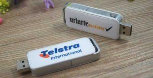 Pendrive USB con gota de resina (doming logo)
