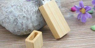 Memoria USB en madera