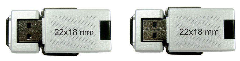 Áreas marcaje logos USB giratorio original