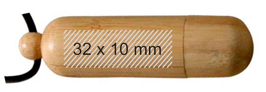 Memoria USB madera colgante pendrive personalizado
