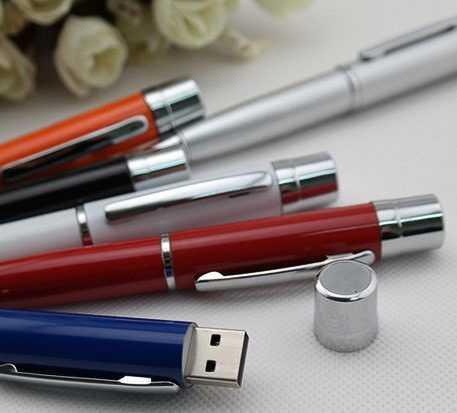 Memoria USB pendrive bolígrafo con tapa