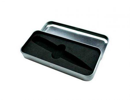 Caja en metal para memorias USB con espuma interior troquelada