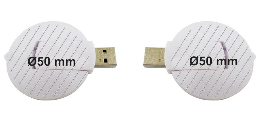 Áreas impresión logotipos USB circular