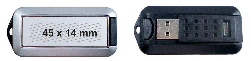Área marcaje memoria USB giratoria plana