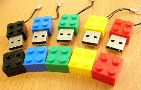 Pendrive memoria USB formato pieza Lego