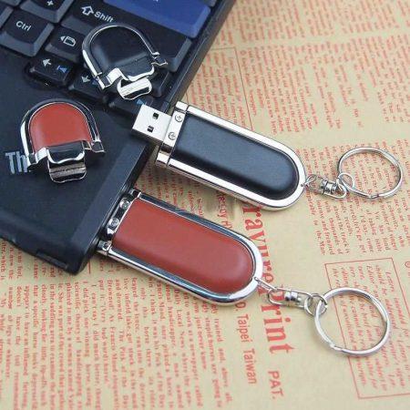 Memoria USB llavero cuero