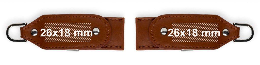 Áreas marcaje USB llavero cuero funda giratoria