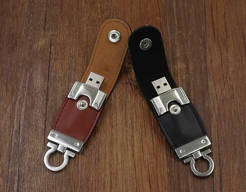 Pendrive personalizado memoria USB llavero cuero