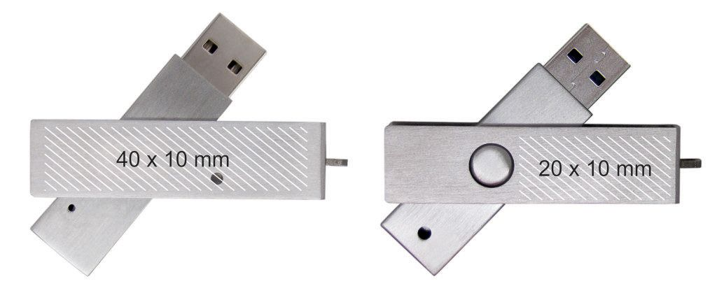 Areas marcaje memoria USB metal giratoria