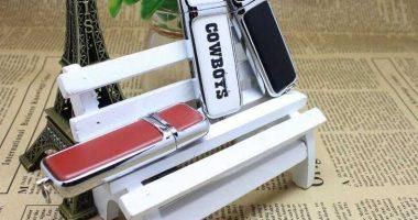 Memoria USB metal incrustaciones en cuero