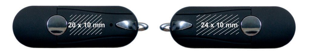 Áreas marcaje pendrive memoria USB oval