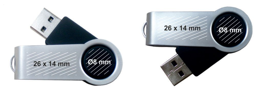 Áreas marcaje pendrive USB personalizado giratorio