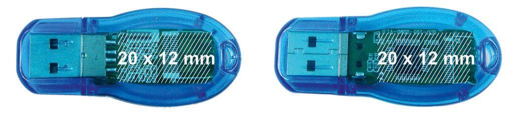 Áreas marcaje pendrive USB transparente