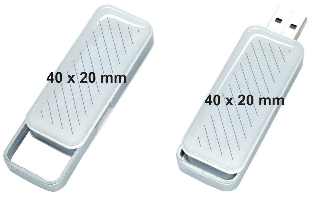 Areas marcaje logos USB con gota de resina