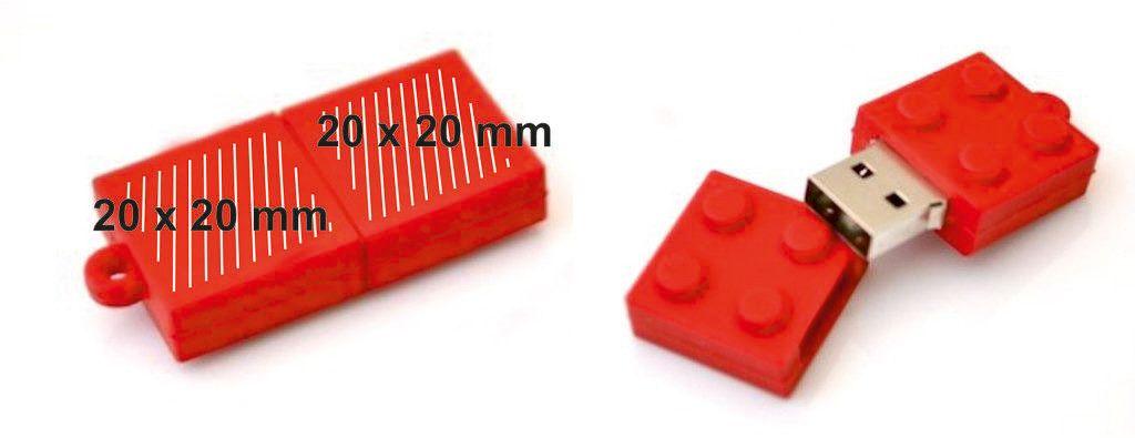 Áreas marcaje memoria USB Lego