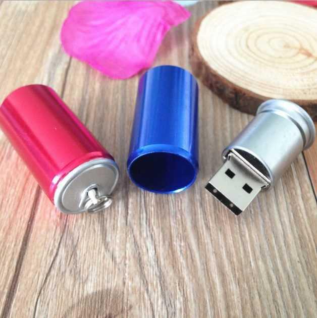 Pendrive memoria USB lata refresco