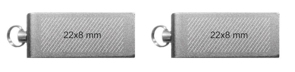 Area máxima marcaje pendrive memoria USB mini giratoria