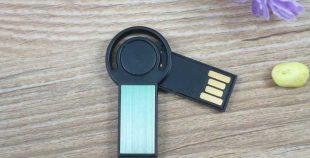 Memoria USB giratoria mini, oculta mediante tapa giratoria
