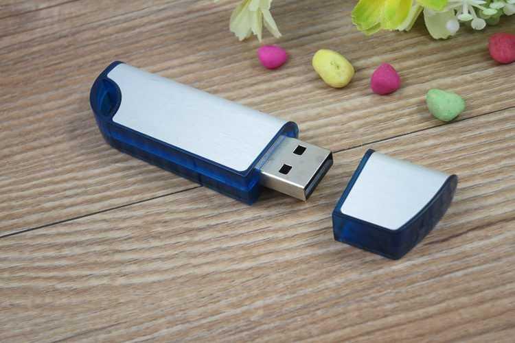 Memoria USB bicolor con tapa