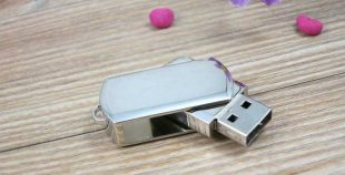 Pendrive personalizado USB mini metal giratoria