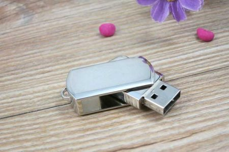 Pendrive personalizado USB mini metal giratoria