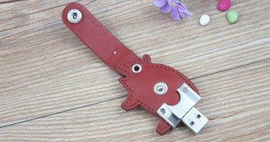 Memoria USB en cuero, con forma de cerdo