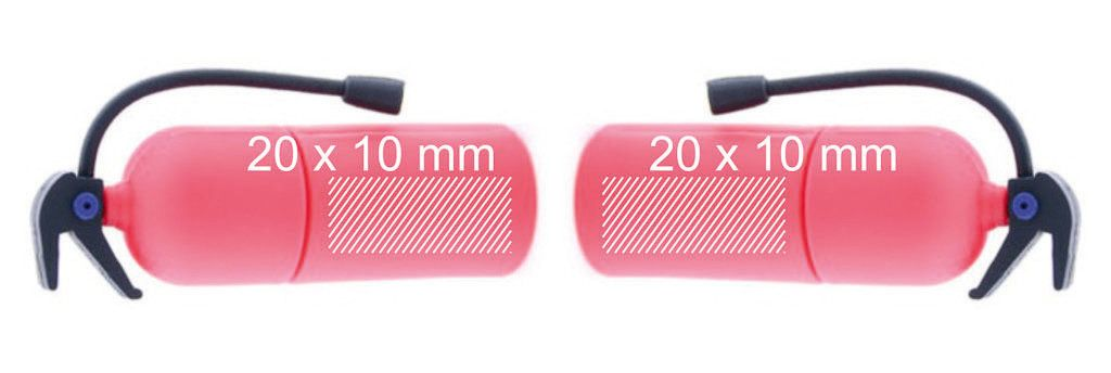 Áreas marcaje memoria pendrive USB extintor