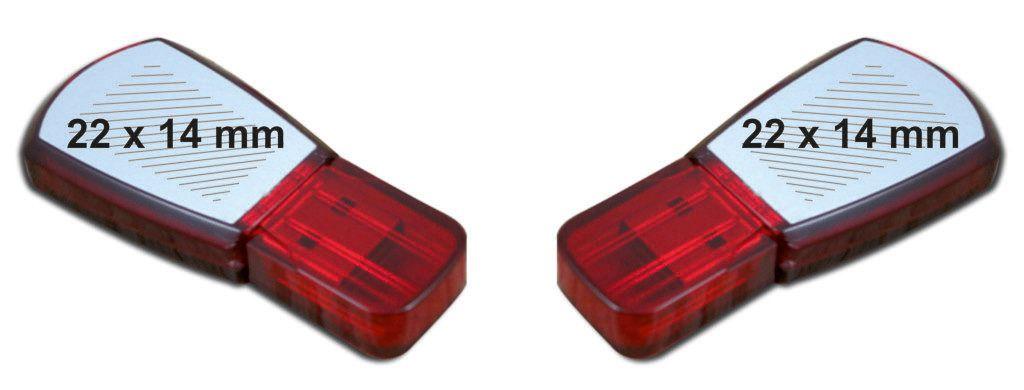 Áreas impresión logotipos memoria USB trapezoidal