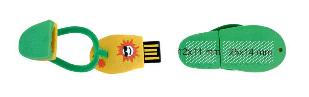 Marcaje logotipos memoria usb chancla