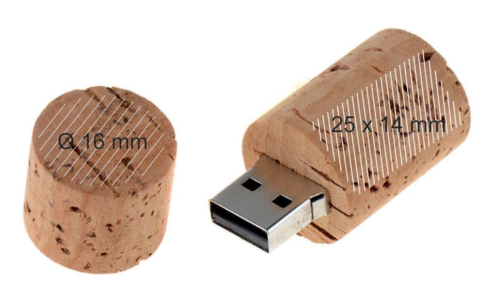 Pendrive personalizado memoria USB corcho botella vino