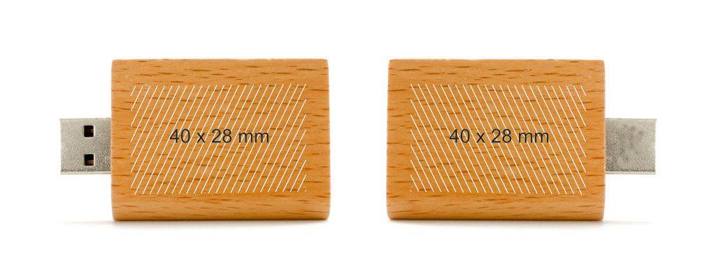 Pendrive memoria USB libro en madera