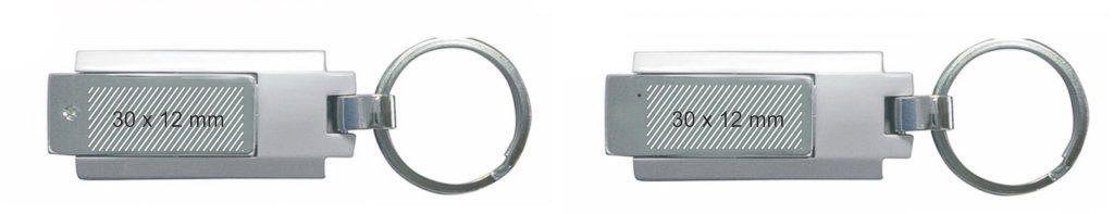 Areas de marcaje en memoria USB llavero giratorio