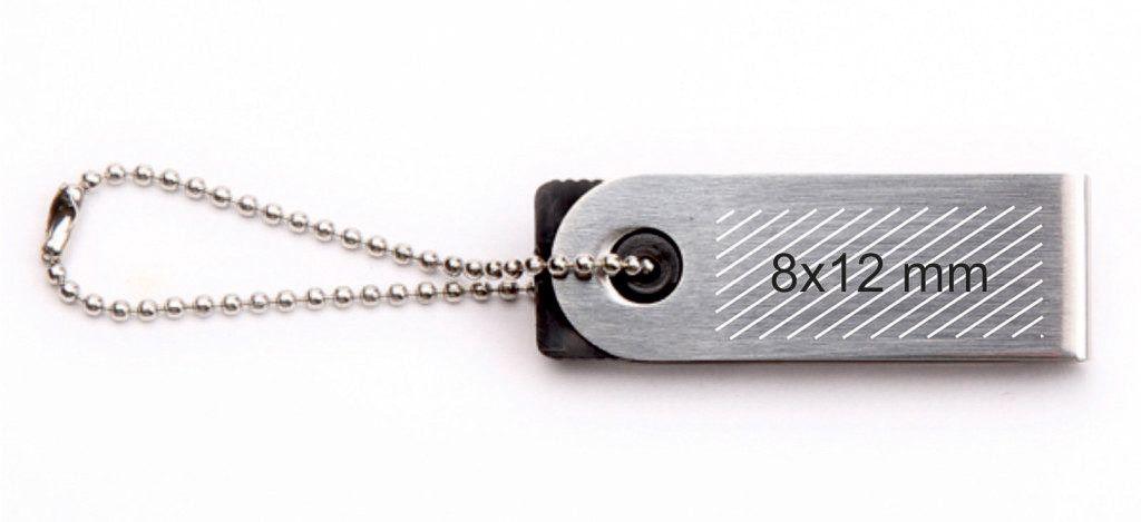 Área impresión logotipo USB mini llavero