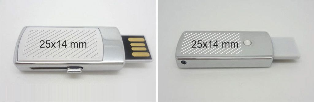 Áreas marcaje pendrive USB mini retráctil