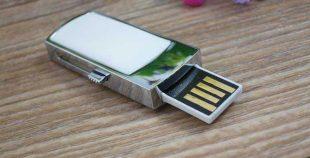 Pendrive memoria USB retráctil mini