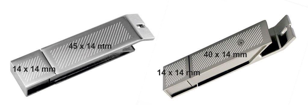 Areas marcaje USB abrechapas metal