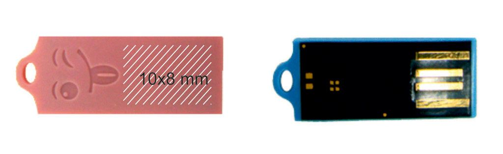 Área marcaje memoria usb tamaño mínimo