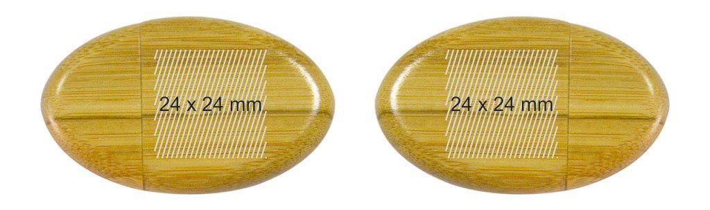 Memoria pendrive USB madera oval