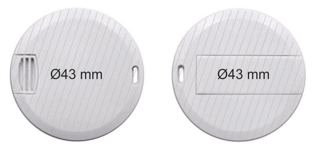 Área de marcaje de tarjeta USB circular memoria
