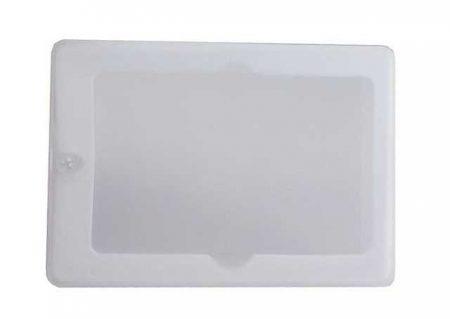 Funda PVC traslúcido cierre magnético para tarjetas memoria USB