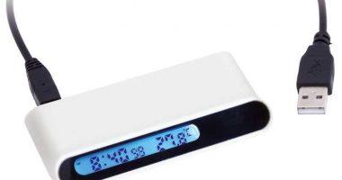 Hub concentrador puertos USB con reloj digital