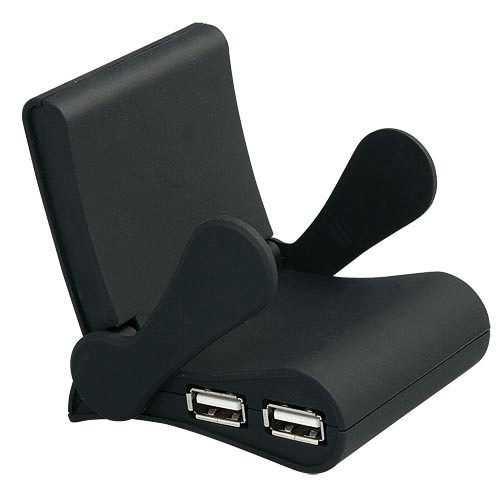 Hub concentrador puertos USB con soporte móvil