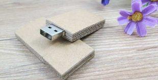 Pendrive personalizado USB carton reciclado