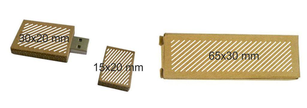 Areas marcaje memoria USB cartón reciclado