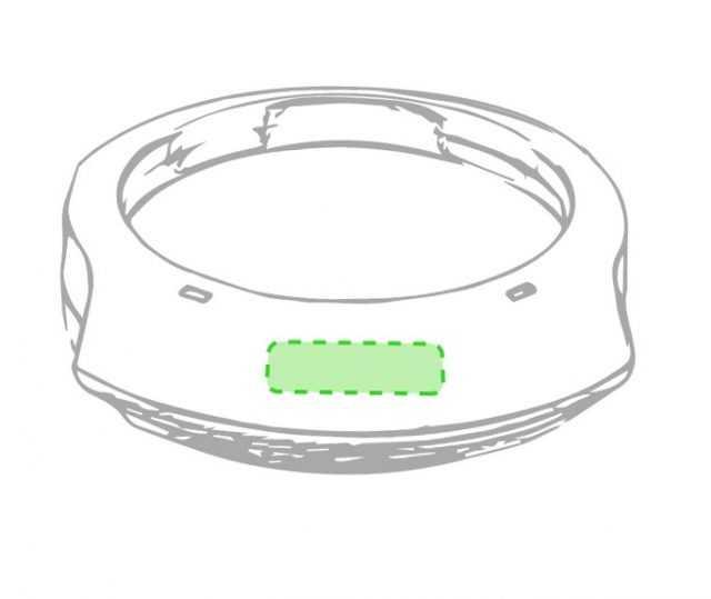 Area marcaje calentador tazas USB