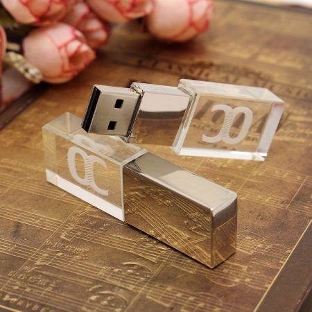 Pendrive memoria USB cristal LED
